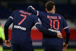 Kylian Mbappé og Neymar eru báðir á listanum.