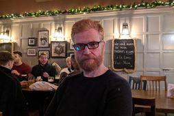 Hilmar Veigar Pétursson, framkvæmdastjóri tölvuleikjarisans CCP, í London á Þorláksmessu í fyrra. Hilmar segir mbl.is …