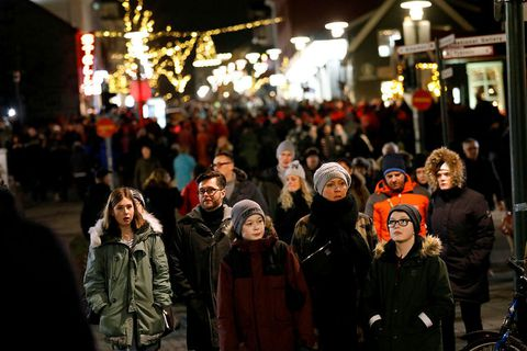 Icelanders flock to town on Þorláksmessa, or the mass of St.Þorlákur.