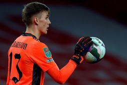 Rúnar Alex Rúnarsson er ekki í hóp hjá Arsenal.
