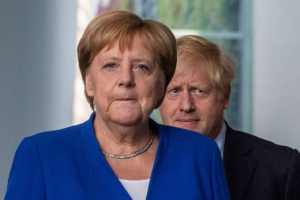 Angela Merkel og Boris Johnson.