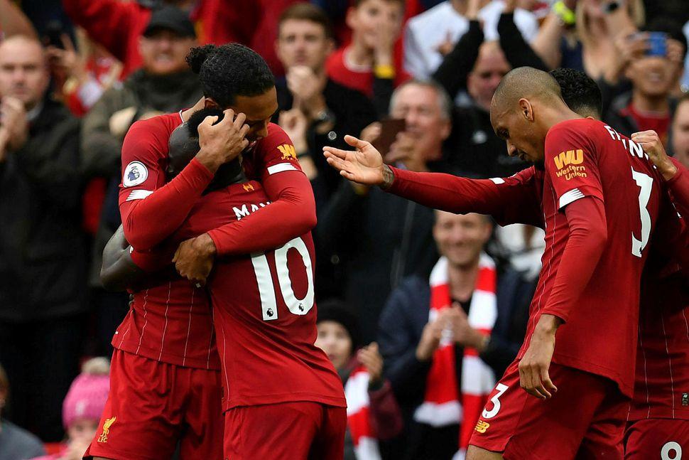 Liverpool marði sigur á Leicester.