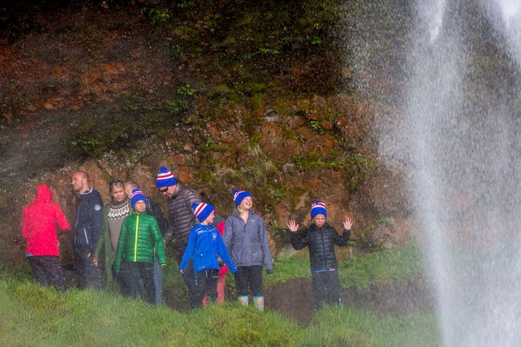 Icelanders plan to travel domestically this summer. From Seljalandsfoss waterfall.