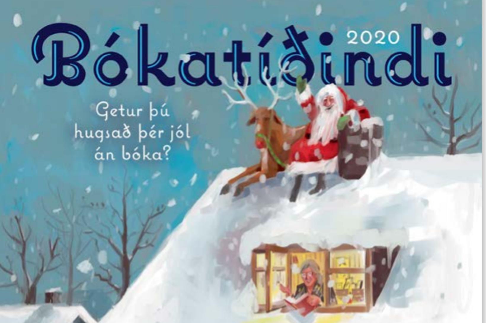 Forsíða Bókatíðinda í ár prýðir mynd eftir Halldór Baldursson og …