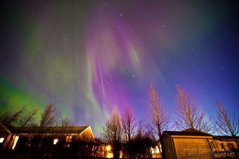 These Northern Lights were caught on camera in Selfoss last night.