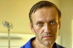 Alexei Navalní, skömmu áður en hann var útskrifaður.