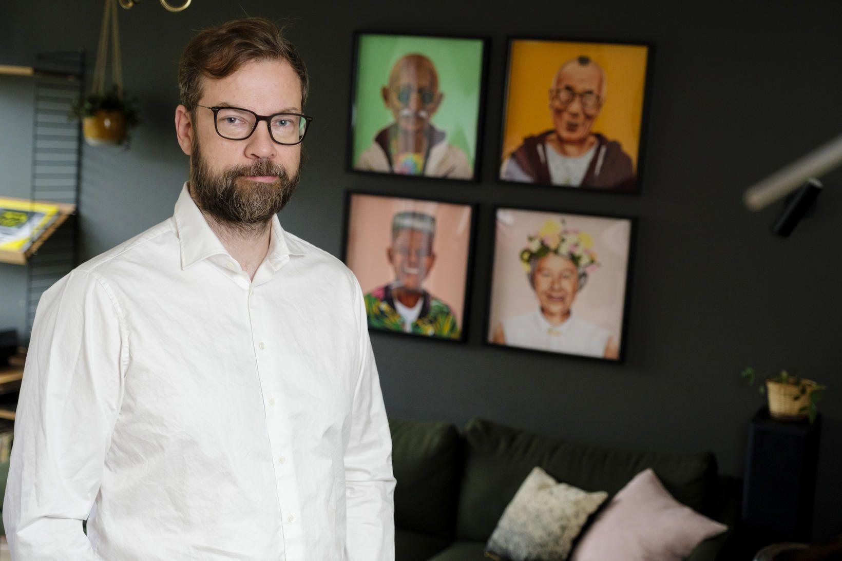 Björn Leví Gunnarsson á fallegt heimili sem er prýtt alls …
