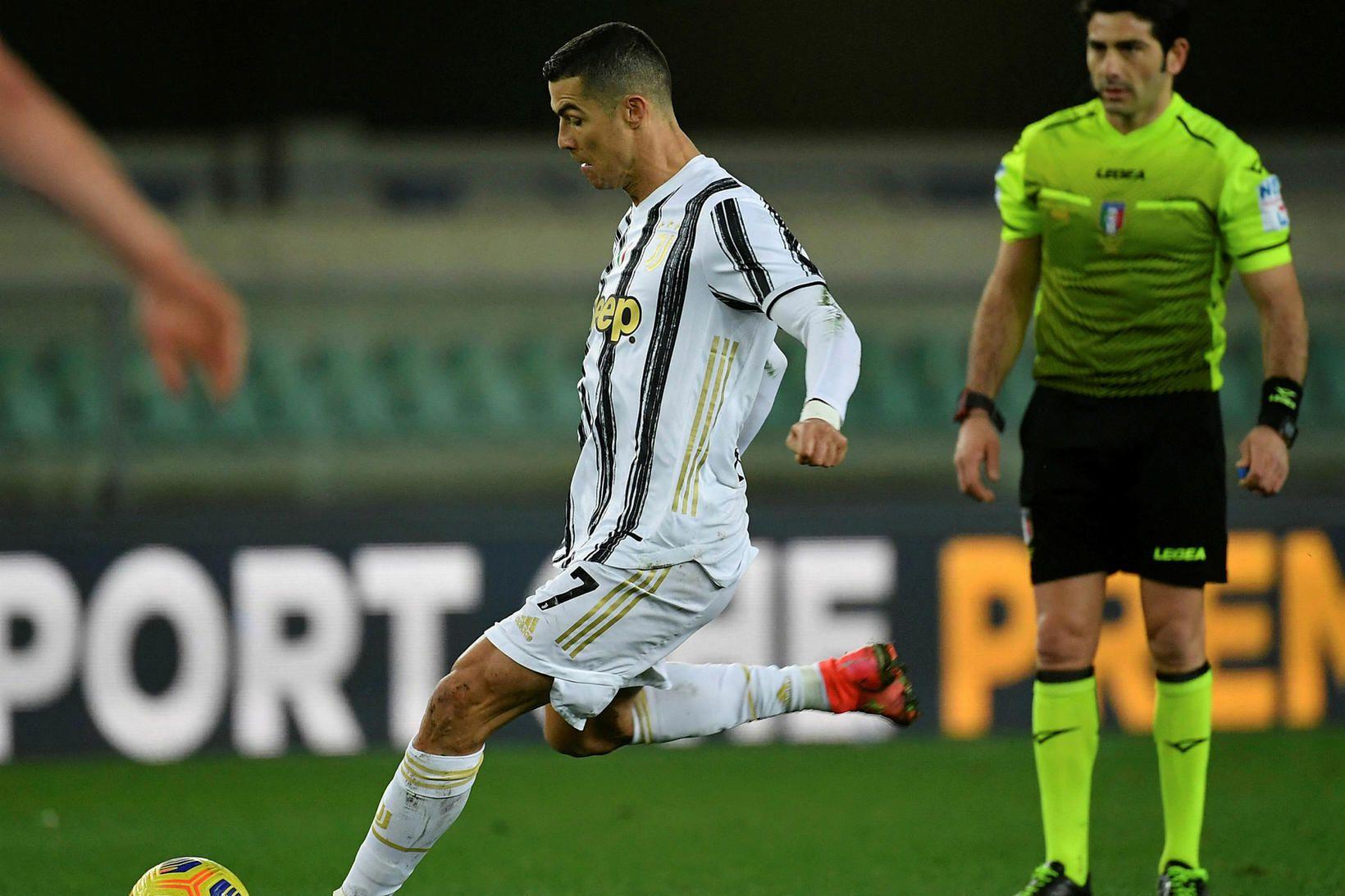 Cristiano Ronaldo skoraði en það dugði ekki til.
