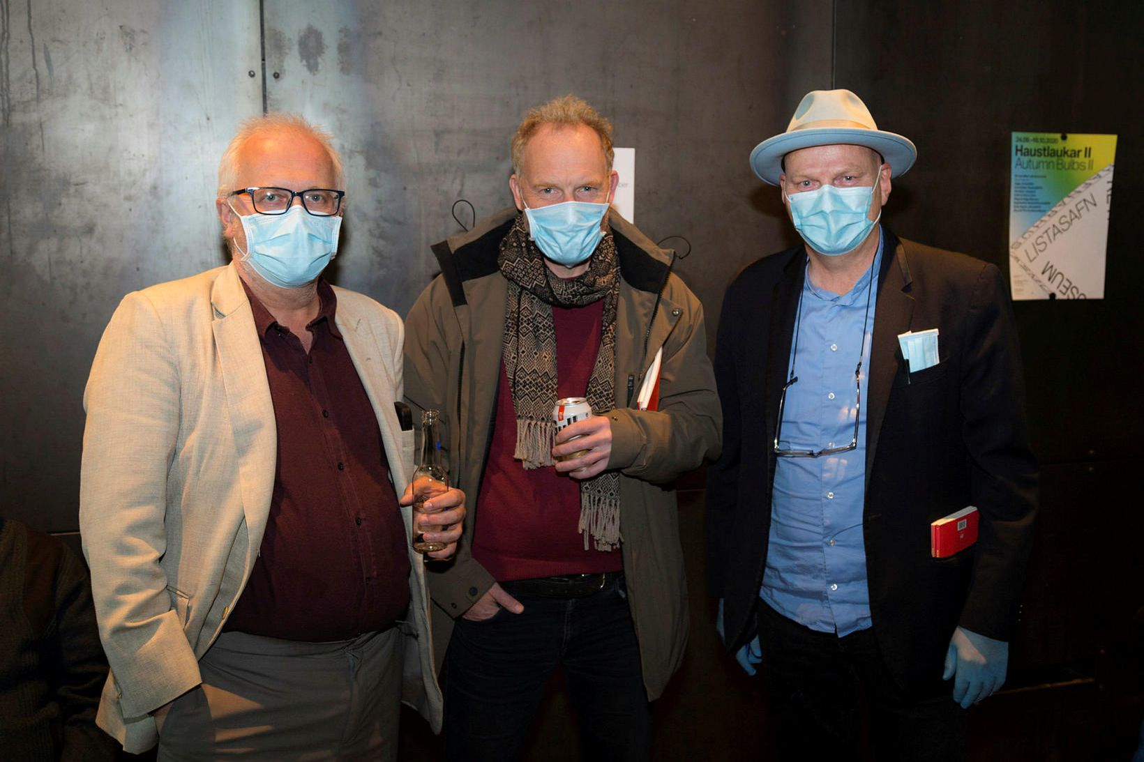 Gauti Kristmannsson, Jón Kalmann og Hallgrímur Helgasson.