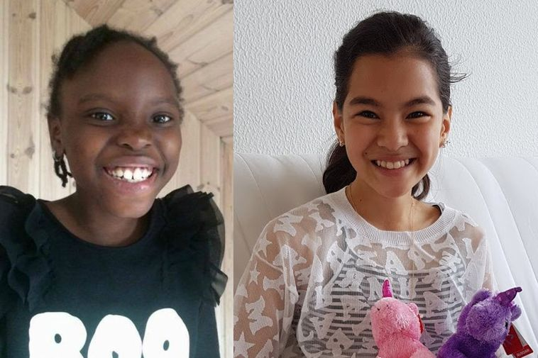 Mary, 8, and Hanyie, 11.