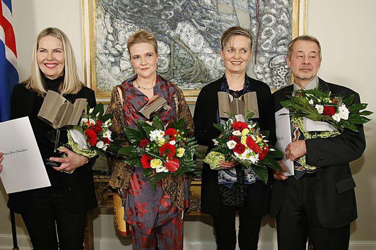 The Icelandic Literary Prize winners of 2017: From the left: Unnur Þóra Jökulsdóttir, Kristín Eiríksdóttir, ...