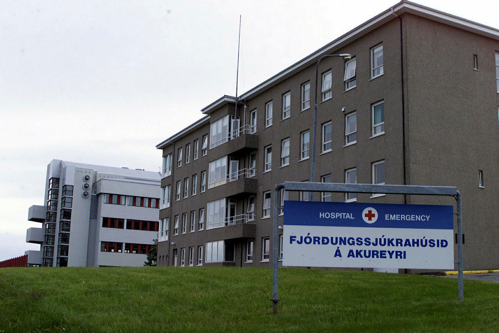 Sjúkrahúsið á Akureyri, áður fjórðungssjúkrahús.