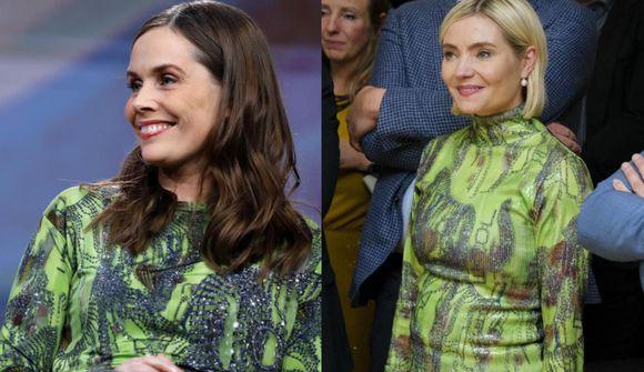 Katrín og Lilja nánast eins klæddar