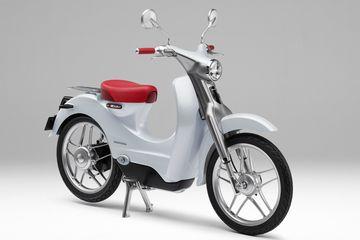 Hugmyndaútgáfa Honda af Super Cub rafhjólinu verður sýnd á bílasýningunni í Tókýó.