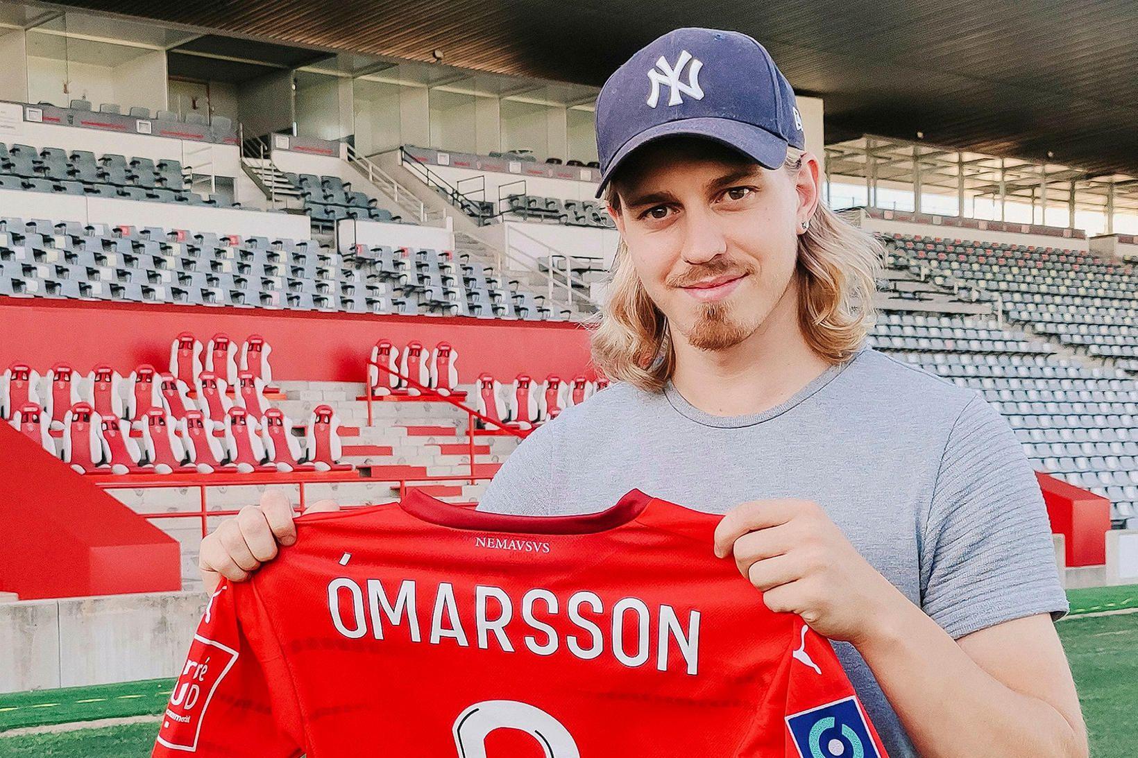 Elías Már Ómarsson gekk til liðs við Nimes í vikunni.