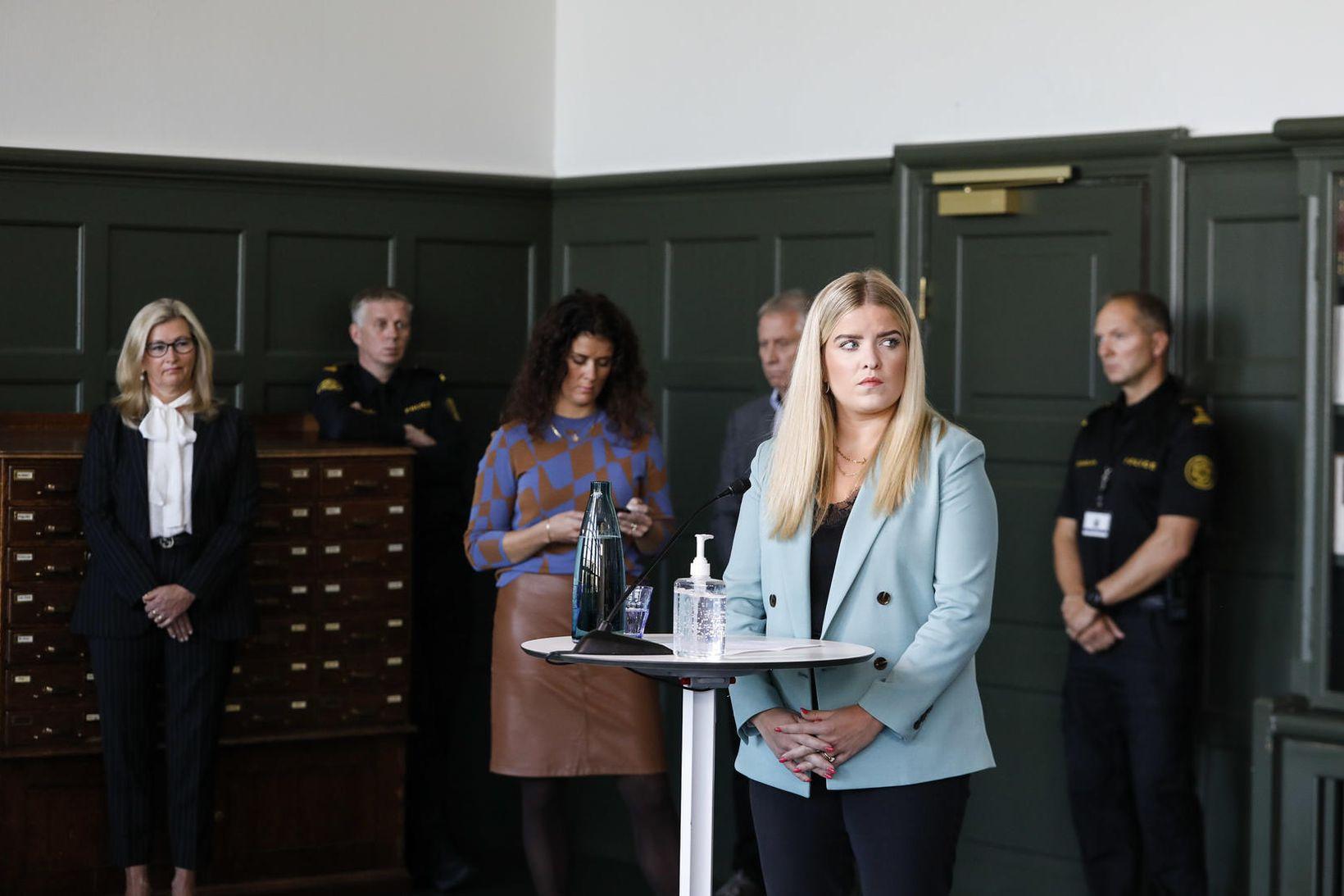 Áslaug Arna Sigurbjörnsdóttir dómsmálaráðherra segir ekki þörf á að lýsa …