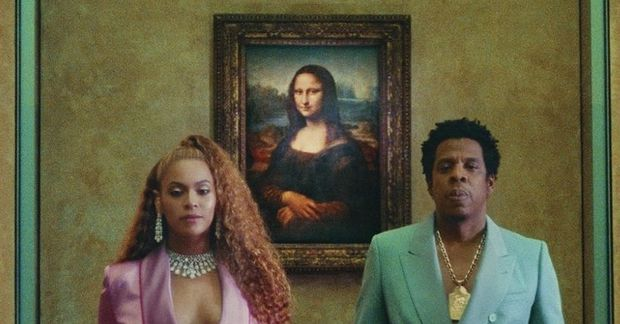 Hjónin Beyoncé og Jay-Z tóku upp myndband á Louvre.