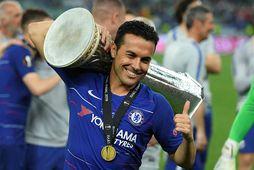 Pedro vann Evrópudeildina með Chelsea.