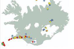 Nokkrir eftirskjálftar hafa mælst, flestir milli 2 og 3 að stærð.