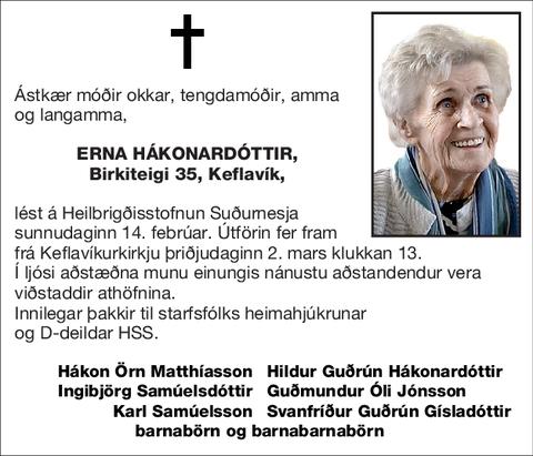 Erna Hákonardóttir,