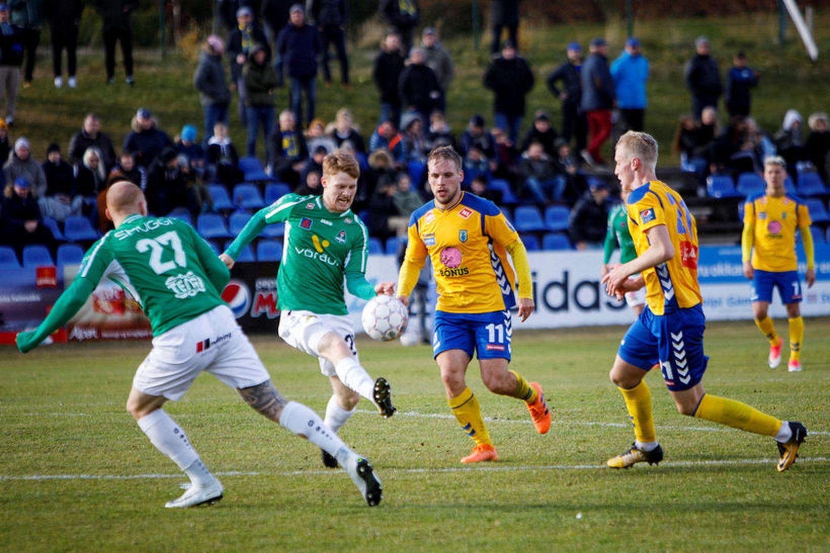 Alexander Helgi Sigurðsson skoraði tvívegis fyrir Breiðablik gegn Gróttu.