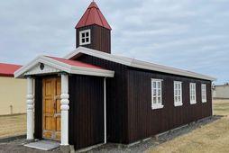 Kirkjan sem er staðsett suður á Keflavíkurflugvelli.