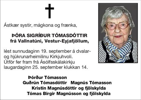 Þóra Sigríður Tómasdóttir