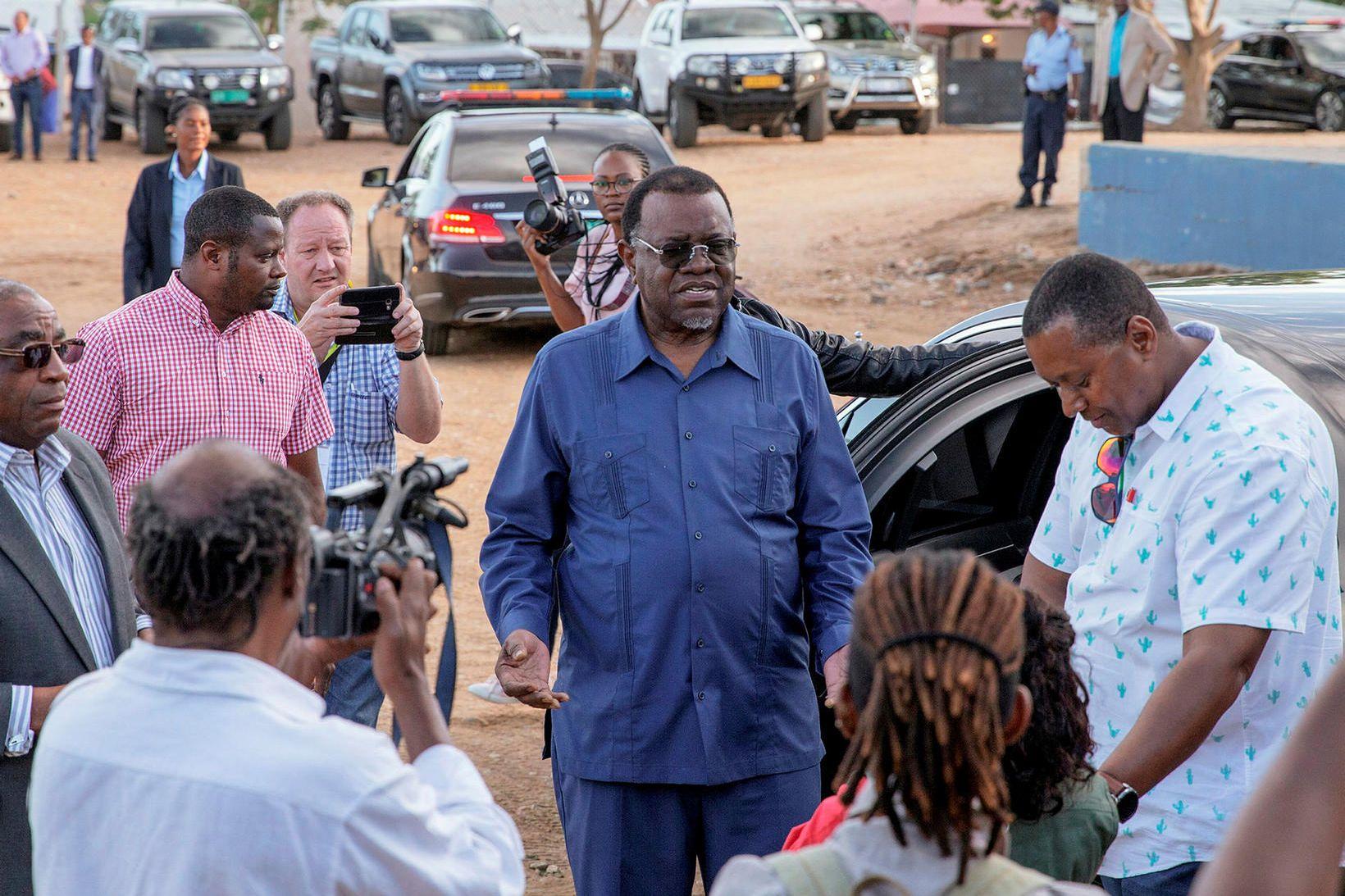 Hage Geingob hefur verið forseti Namibíu í eitt kjörtímabil og …