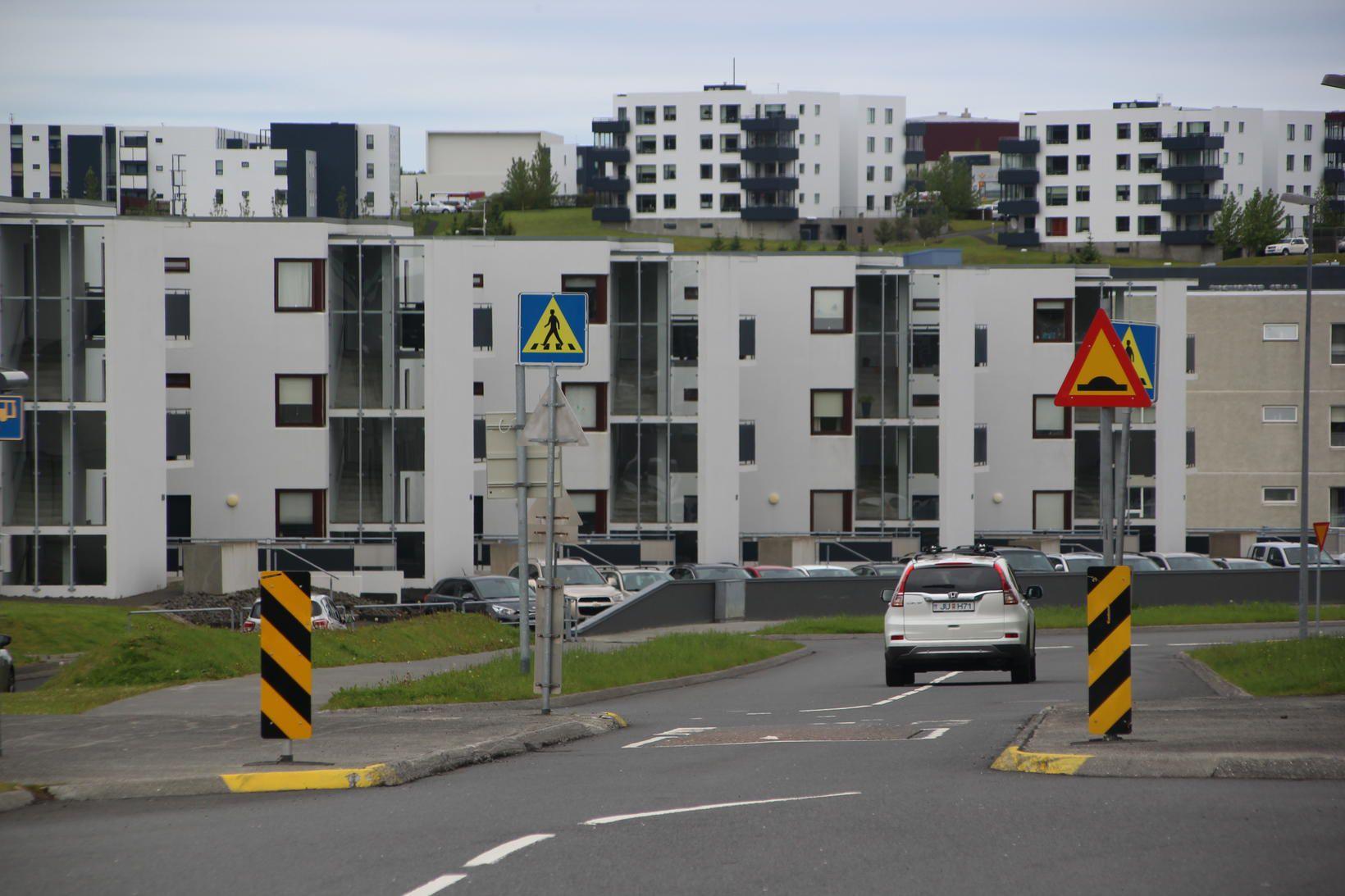 Í Grafarholtshverfi í Reykjavík.