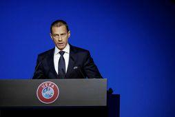Aleksander Ceferin forseti UEFA vonast til þess að klára Meistaradeildina og Evrópudeildina í sumar.