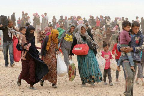 Many asylum seekers are refugees fleeing war zones.