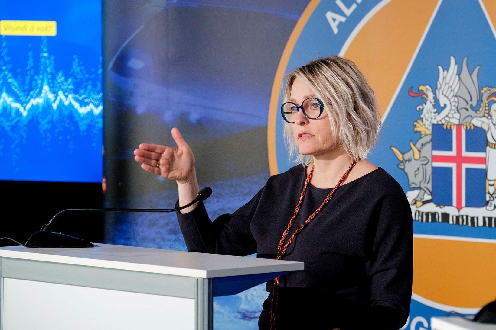 Kristín Jónsdóttir, fagstjóri á sviði náttúruváar hjá Veðurstofunni.