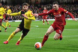Eini tapleikur Liverpool í deildinni til þessa kom gegn lærisveinum Person í Watford.