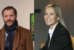 Grímur Garðarsson og Svanhildur Nanna Vigfúsdóttir eru að hittast.