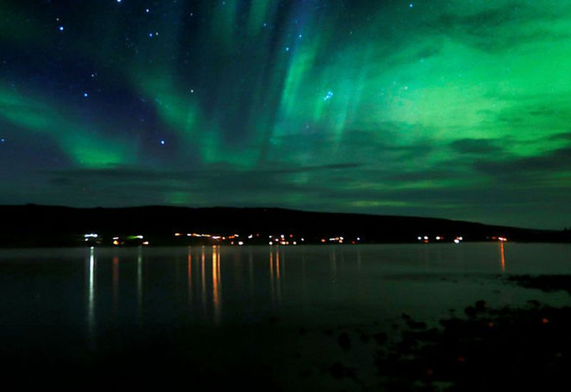 Northern Lights at Skorradalsvatn, South Iceland, this autumn.