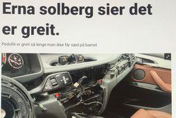 Svona leit frétt um innbrotafaraldur í BMW-bifreiðar í Ósló út eftir að annaðhvort var brotist ...