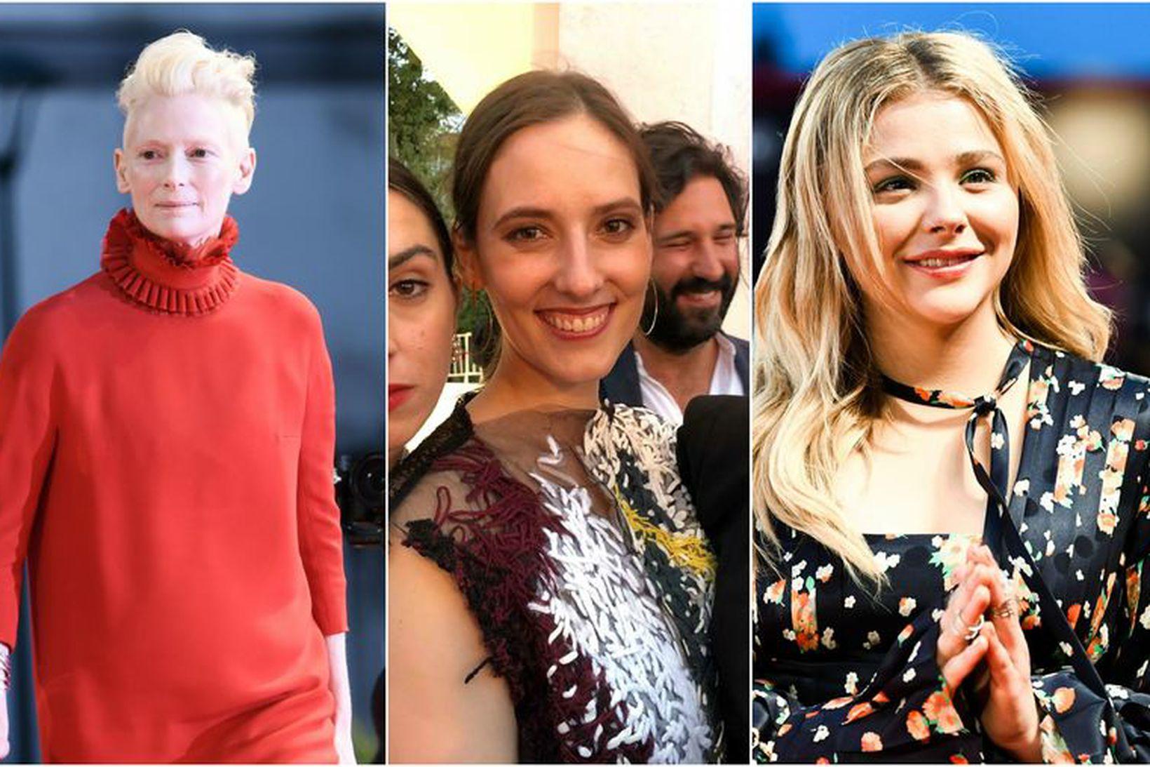Tilda Swinton, Halla Þórðardóttir og Chloe Grace Moretz voru viðstaddar …