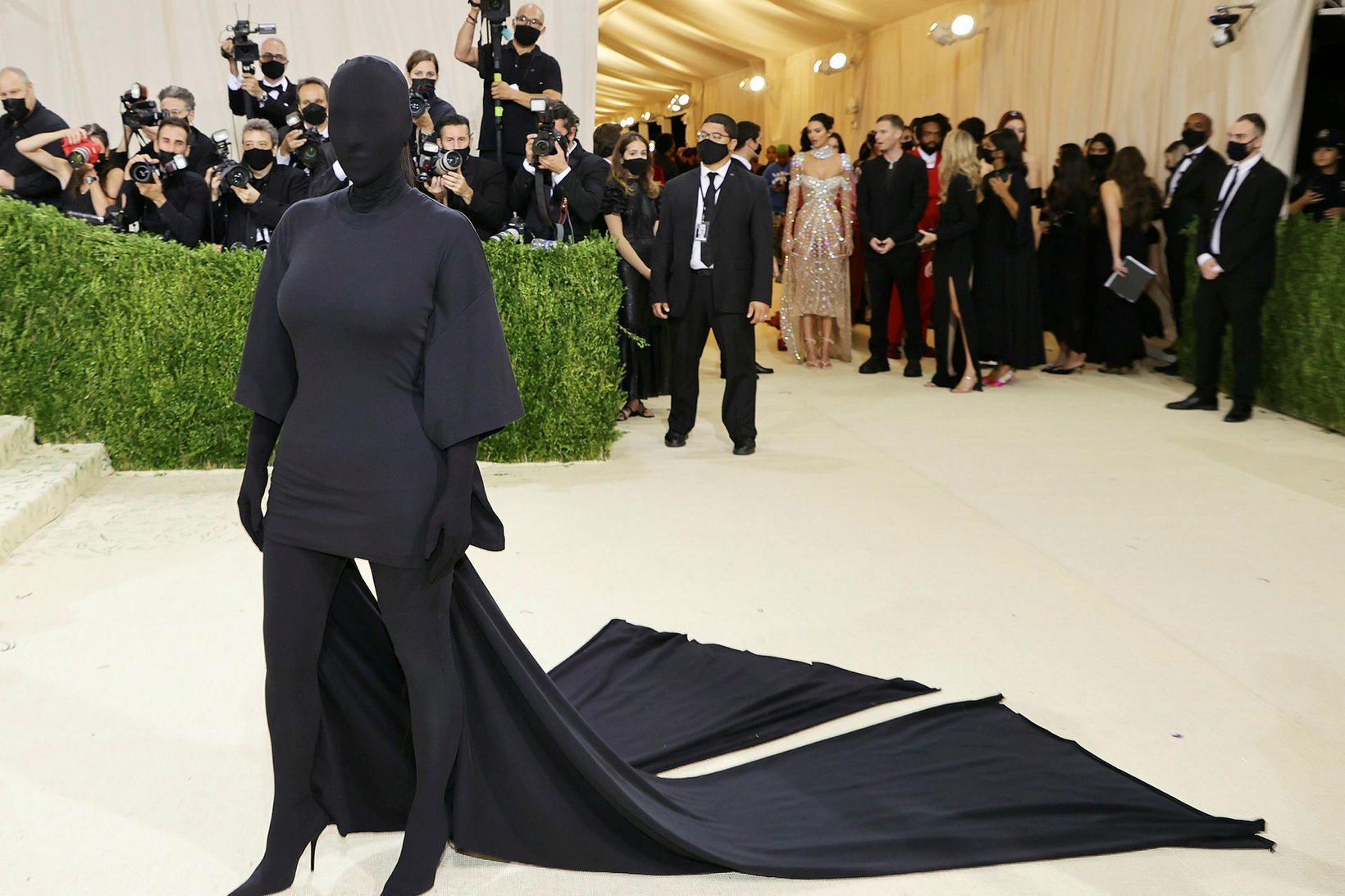 Kim Kardashian á Met Gala í gær.