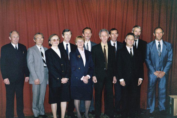 Systkinin öll saman komin árið 1994. Frá vinstri: Ólafur, Guðjón, Elín, Steinn, Sigrún, Halldór, Skúli, ...
