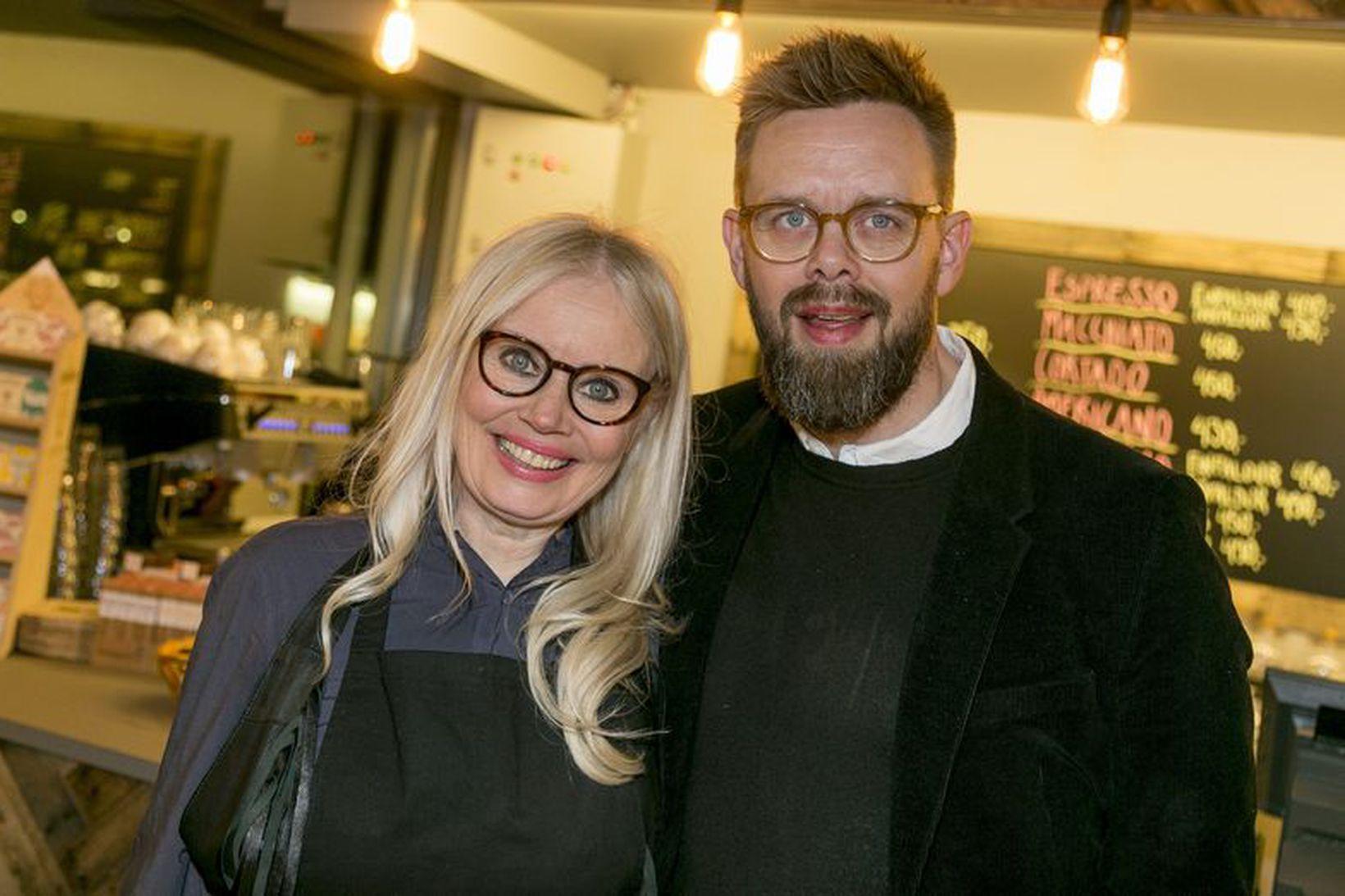 Solla Eiríks og Elías Guðmundsson.
