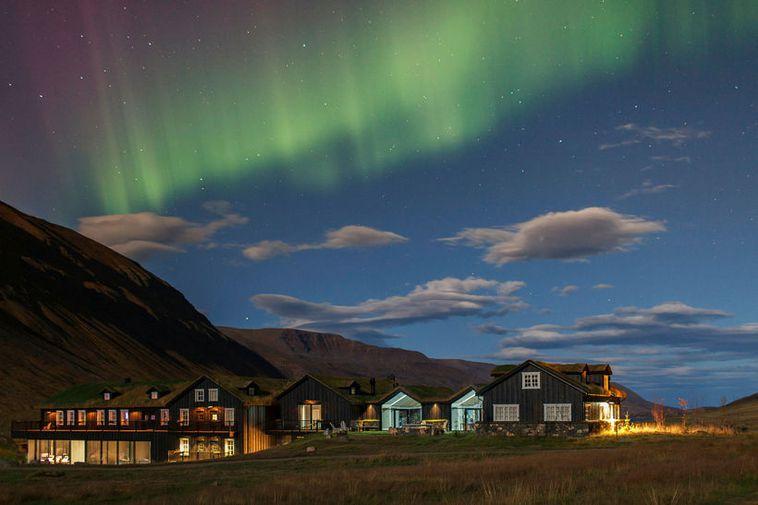 The luxury hotel Deplar Farm in Skagafjörður, North Iceland.