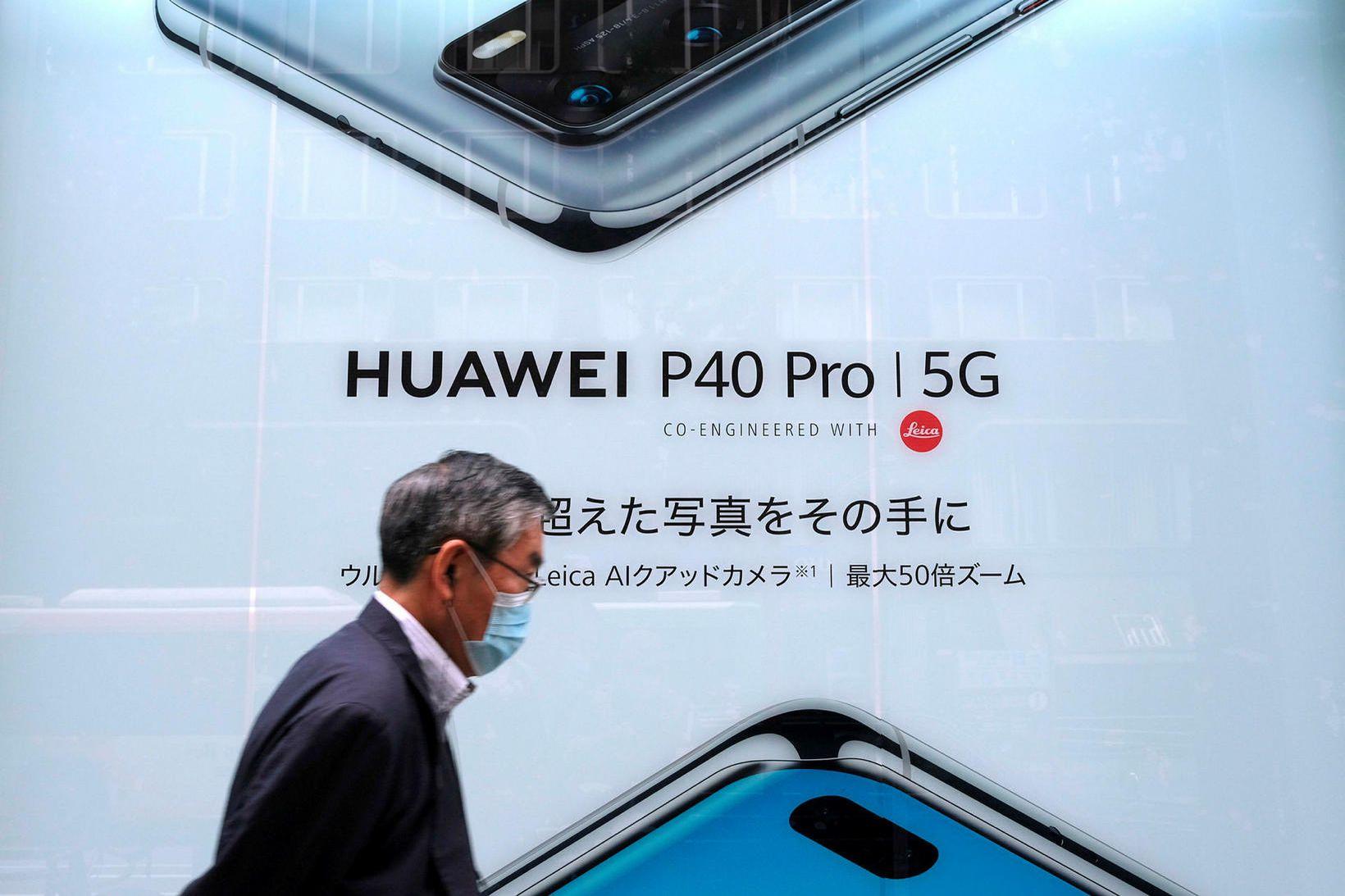 Kínverska fyrirtækið Huawei er stærsti fjarskiptatækniframleiðandi í heiminum.