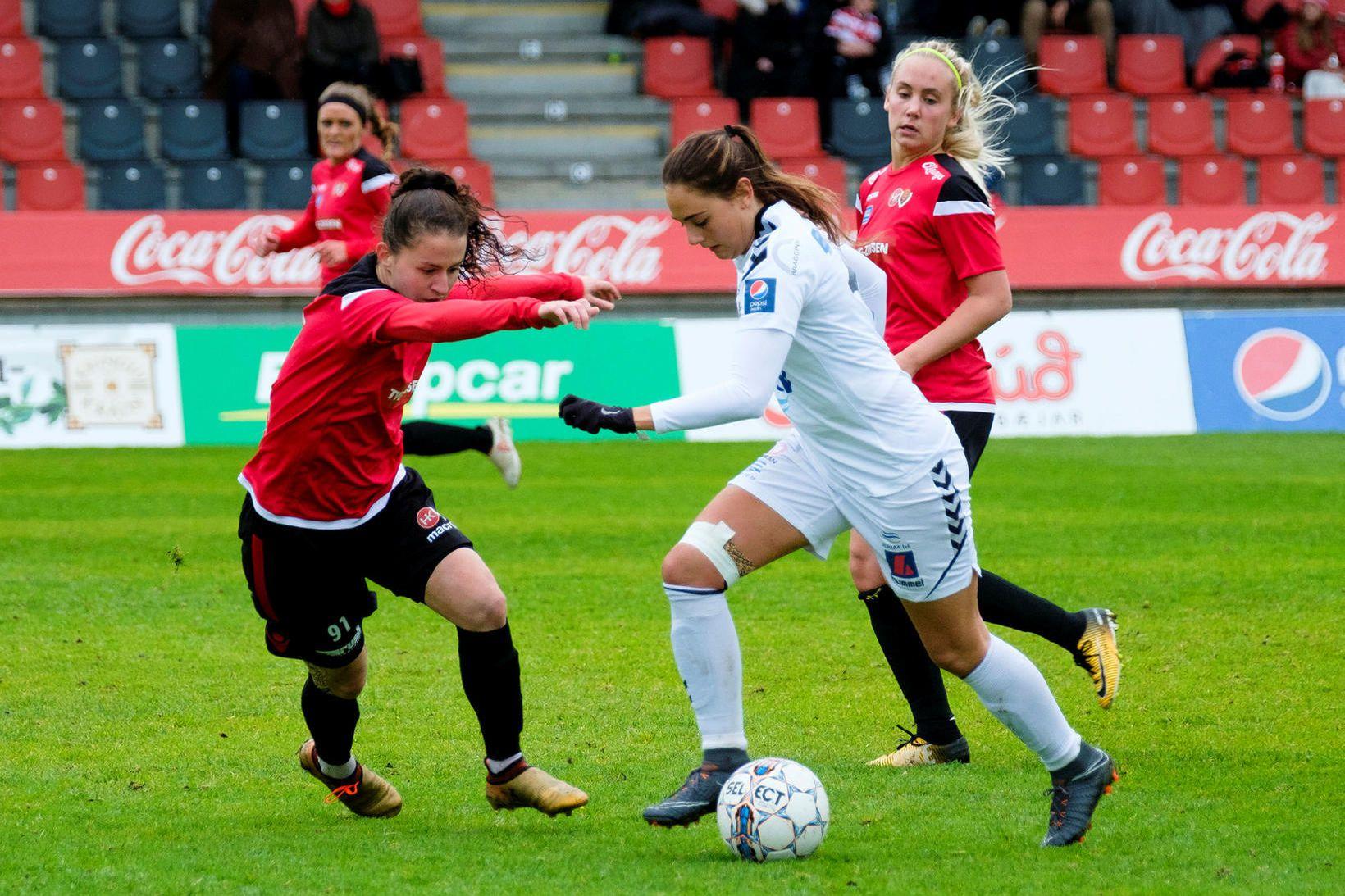 Kristín Erna Sigurlásdóttir skrifaði undir tveggja ára samning við KR.