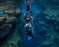 Diving in Silfra is an especially popular activity in Iceland.