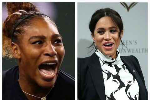 Serena Williams og Meghan hertogaynja eru góðar vinkonur.