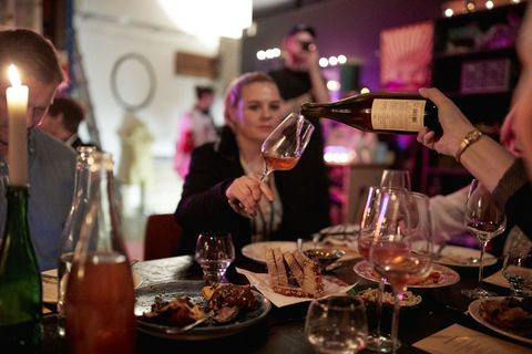 An evening of vegan food and organic French wines was the second in the unique pop-up restaurant series.