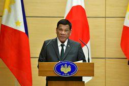 Forseti Filippseyja, Rodrigo Duterte, er í heimsókn í Japan.