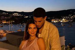 Kendall Jenner og Devin Booker á Ítalíu.