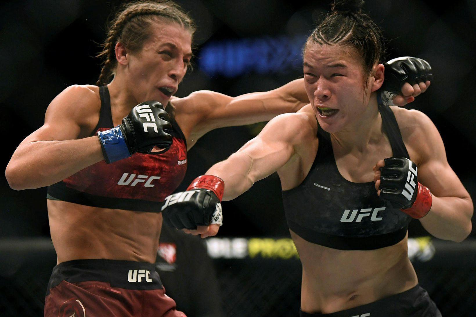 Weili Zhang og Joanna Jedrzejczyk berjast á UFC-bardagakvöldi í síðasta …