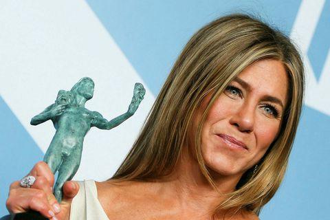 Aniston vann SAG-verðlaun í janúar.